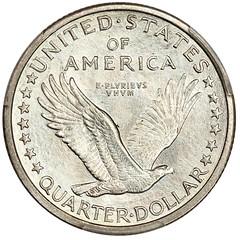 1916 Standing Liberty Quarter reverse
