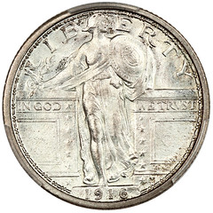1916 Standing Liberty Quarter obverse