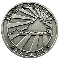 Fairfax Coin Club medal reverse