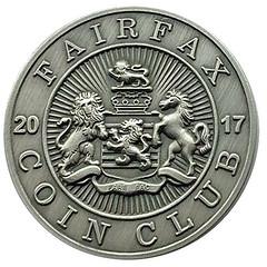 Fairfax Coin Club medal obverse