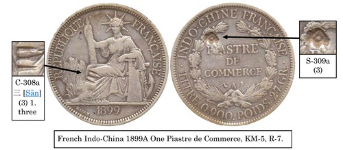 Howard Daniel French Indo-China Countermarked One Piastre 1899