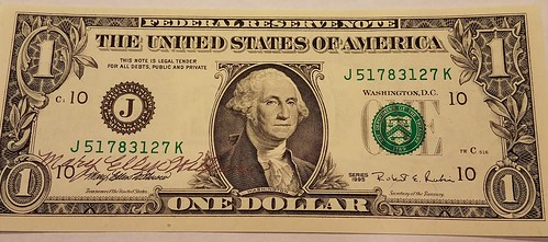 Mary Ellen Withrow autographed dollar