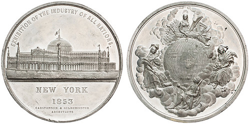 1853 New York Crystal Palace medal