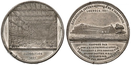 1851 London Crystal Palace medal