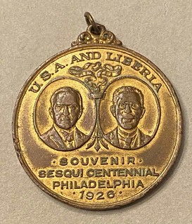 1926 Philadelphia Sesquicentennial USA-Liberia medal obverse