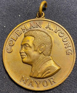 Coleman Young Mayor medal