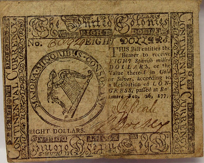Archives International sale 65 Lot 469. Cont Currency,  1777,