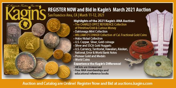 Kagins E-Sylum ad 2021-02-28