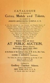 G.C. Adams 1905-04 Temple sale