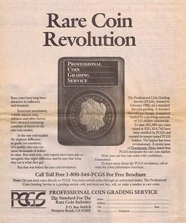 PCGS Rare Coin Revolution ad 1987