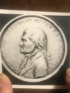 Jefferson inaugural medal stolen from Monticello obverse