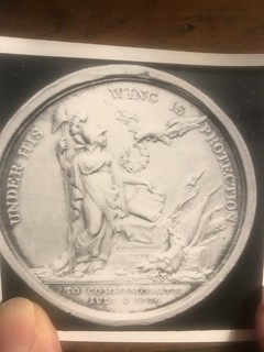 Jefferson inaugural medal stolen from Monticello reverse