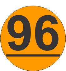 Number-Ninety-Six-96