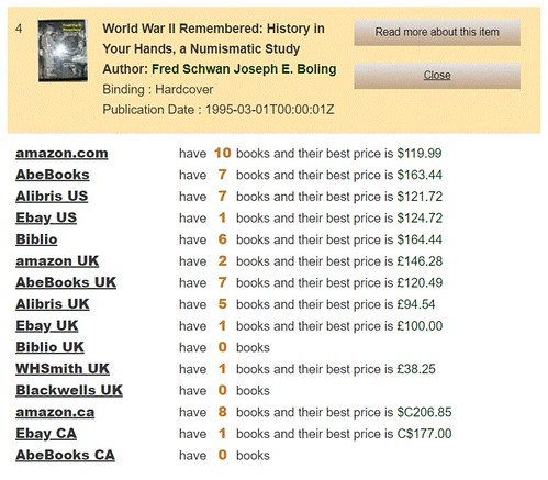 UsedBookSesrch result WWII Remembered