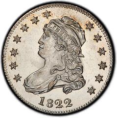 1822 Quarter obverse