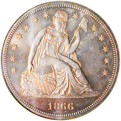 DuPont 1866 NM Dollar - obv