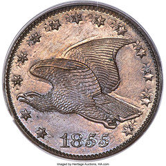 1855 P1C Flying Eagle Cent, Judd-168 Original, Pollock-193, R.4 -- Double Struck -- PR64 Brown PCGS_Heritage_Auctions_1