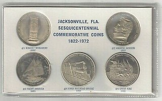 jacksonville sesquicentennial medals