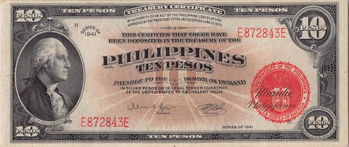 1941 Philippines $10 Naval Aviators' Issue