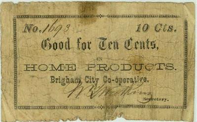 Brigham City Coop Note $0.10