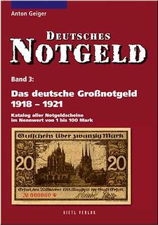 Das deutsche Großnotgeld 1918 – 1921 book cover