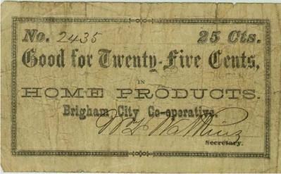 Brigham City Coop Note $0.25