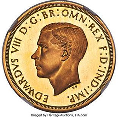 1937 Edward VIII 5 Pounds pattern obverse
