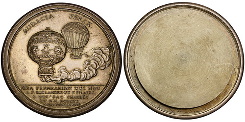 Montgolfier brothers balloon medal