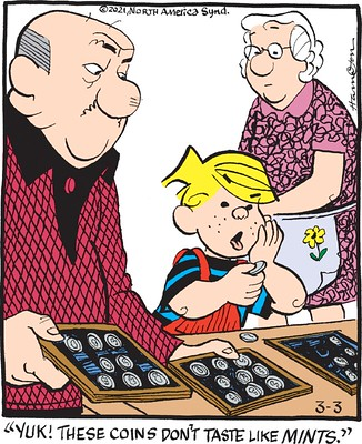 comic_Dennis-the-Menace_Coins-Dont-Taste-Like-Mints