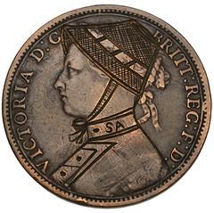 Second Boer War satirical engraved copper Penny
