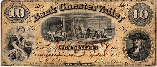 $10 Bank of Chester Valley note