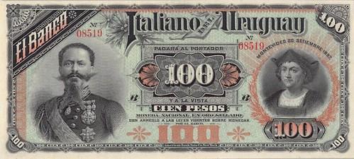 Uruguay, Banco Italiano 100 Pesos