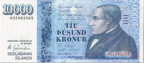 2001 Iceland 10,000 Kronur
