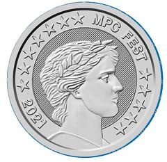 MPCFest 2021 challenge coin silver    obverse