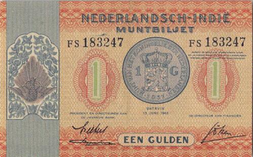 1940 Netherlands Indies 1 Gulden