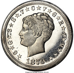 1879 $4 Coiled Hair Four Dollar, Judd-1640, Pollock-1840, High R.7, PR63+ Cameo PCGS_Heritage_Auctions_1