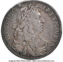1670-A French Colonies 15 Sols obverse