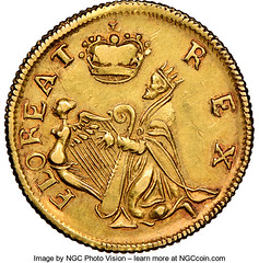 Gold Small Size St. Patrick reverse
