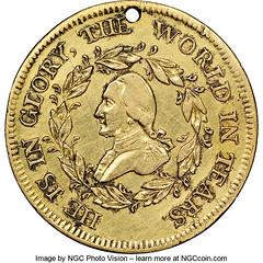 Gold Washington Funeral Medal obverse