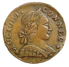 1787 Muttonhead Connecticut Copper obverse