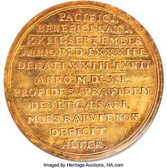 1611 Saxony 10 Ducat reverse