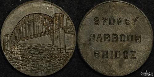 Sydney Harbour Bridge rivet relic medal