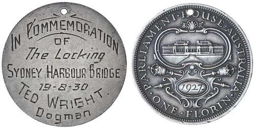 Sydney Harbour Bridge locking medal