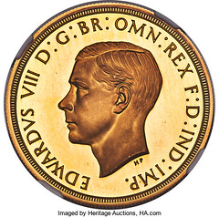Edward VIII Pattern 5 Pounds obverse