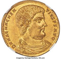 Magnentius Roman medallion obverse