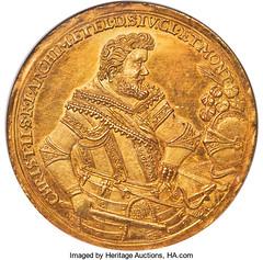 1611 Saxony 10 Ducat obverse