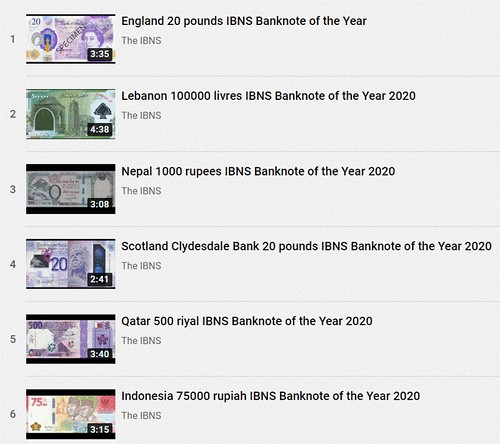 2020 Banknote of the Year candidate videos