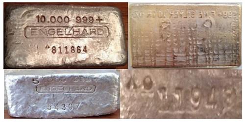 Error Englehard silver bars