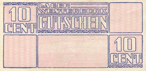 Westerbork voucher for 10 cents back