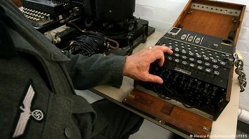 Enigma machine at Bletchley Park Museum
